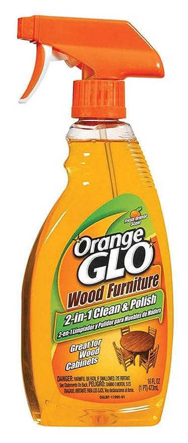 Orage Glo Spray para muebles de madera, 2-en-1, limpiar y pule ...