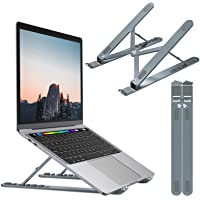 Nulaxy Laptop Stand, Portable Computer Laptop Mount, Aluminum Laptop Riser with 6 Levels Height Adjustment, Fully…