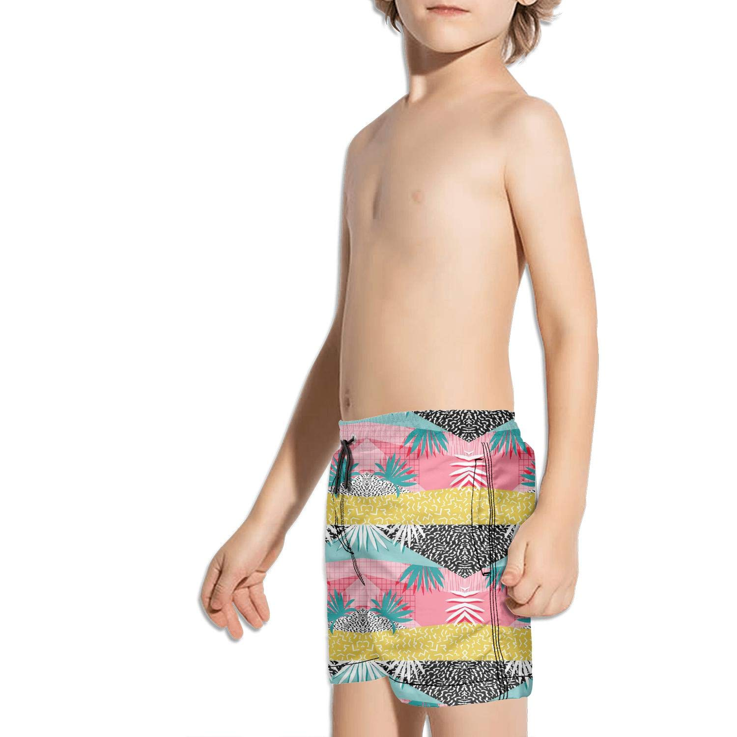 DSDRFE2DEW Swimming Trunks Palm Tree Solid Shorts for boyswith Drawstring