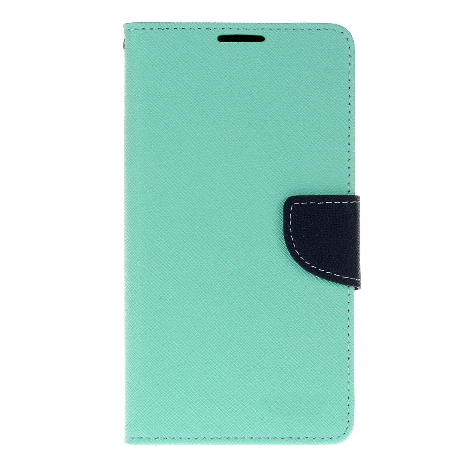 LG V10 Case Wallet,SUNWAY [Kickstand Feature] Flip Folio Premium PU leather wallet case with ID&Credit Card Pockets for LG V10 - Blue