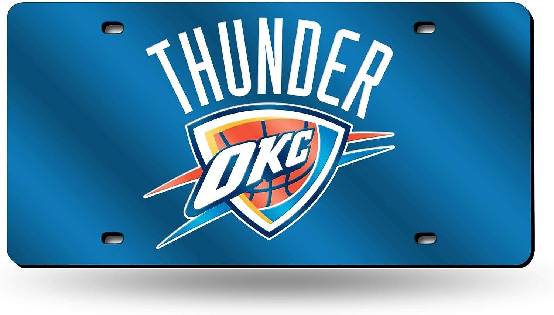 NBA Rico Industries Laser Inlaid Metal License Plate Tag, Oklahoma City Thunder