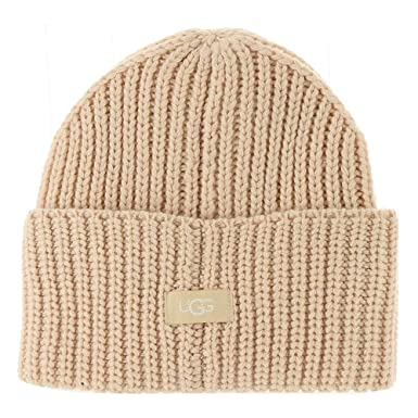 UGG Women s High Cuff Knit Hat Beige One Size at Amazon Women s ... c375e49640a