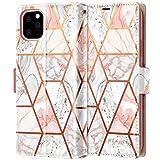iPhone 11 Pro Max Case, Fingic Rose Gold Marble