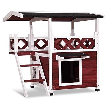 Amazon.com: Lovupet 0507 - refugio de madera para gatos y ...