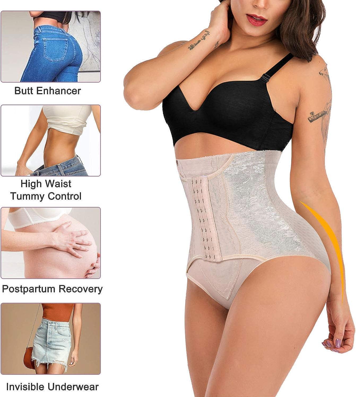 cintura alta Postparto Malla transpirable Entrenador de cintura Abdomen Apretado Bragas Body Shaping Underwear M-Negro Banda de vientre postnatal
