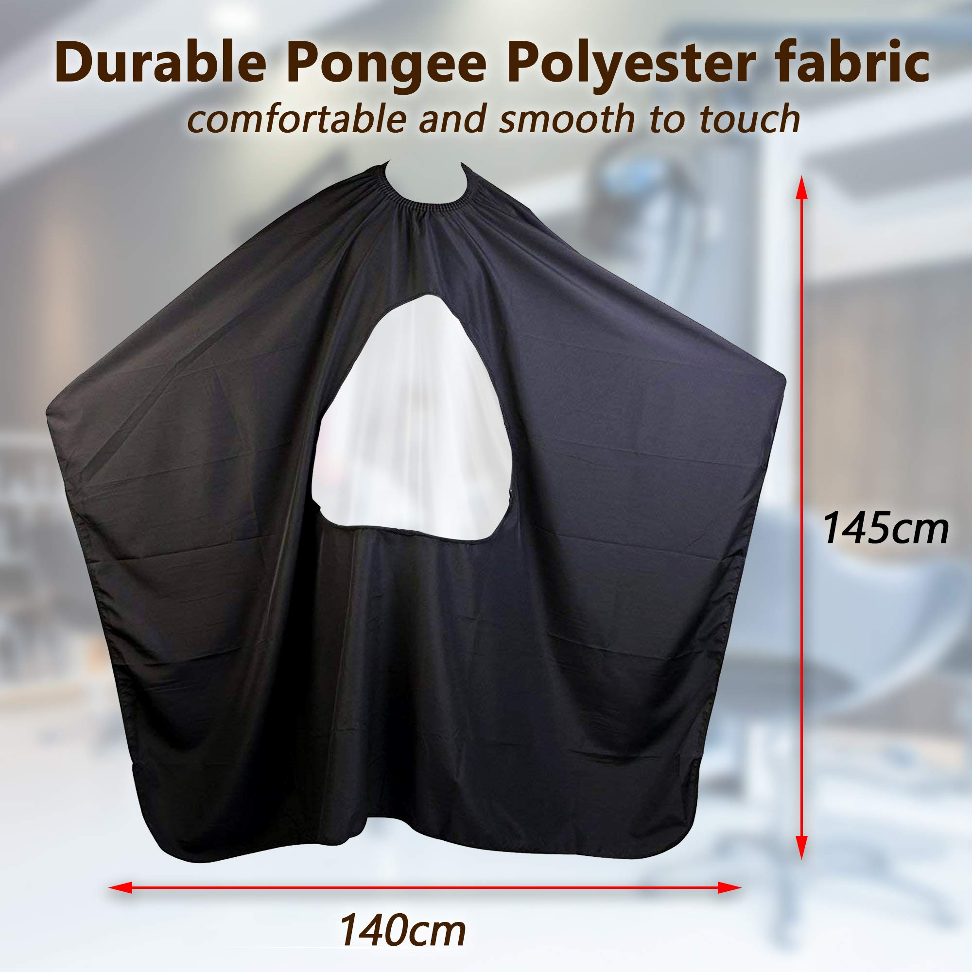 Celebrita Pack of 2 Waterproof Barber Cape for All - With Transparent Viewing Window – Perfect Salon Apron for Hair Treatment - Cutting/Coloring/Perming - All Shampoo Chemical Proof Hairdresser by Celebrita (Image #6)