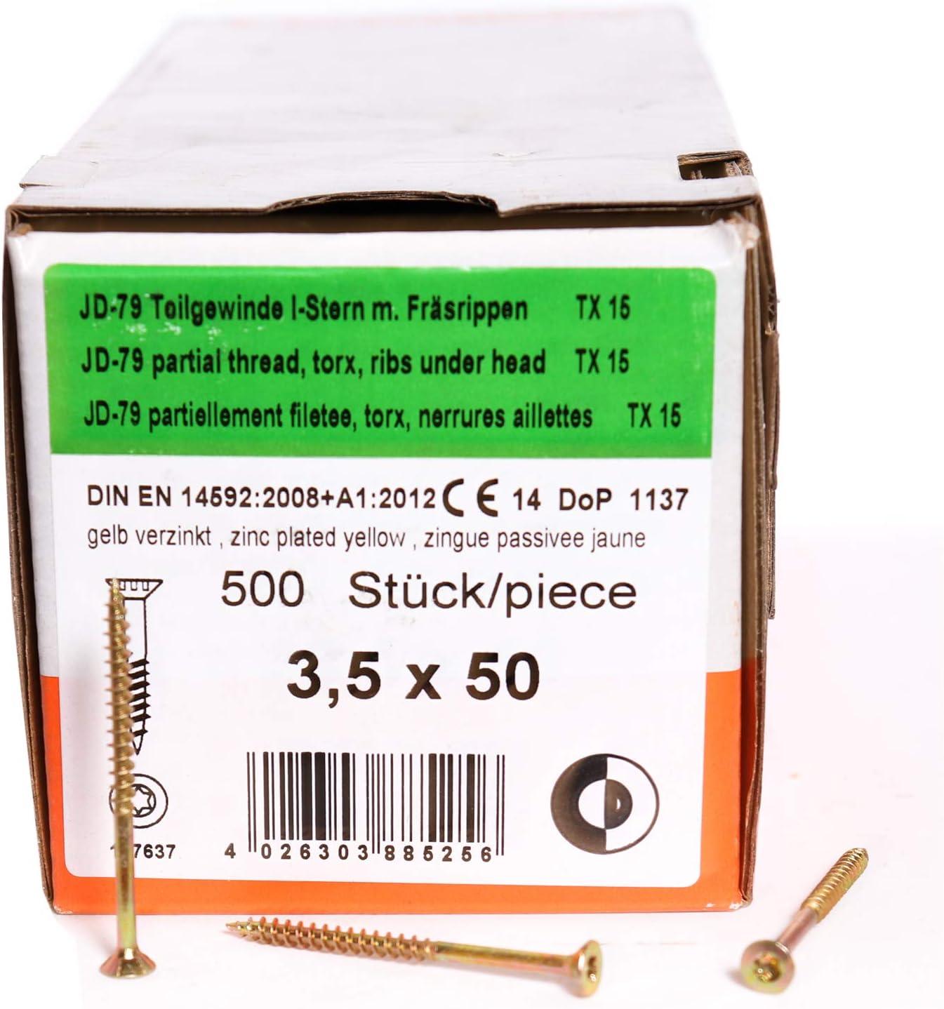 DIN 571 verzinkt Wiener Schraube 5x60 mm Sechskant Holzschrauben 200 St/ück Belko Schl/üsselschrauben