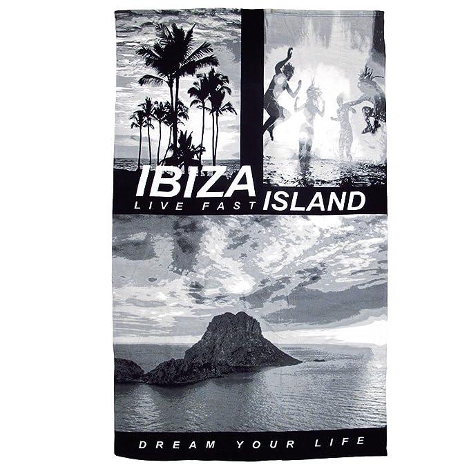 Ibiza Island Es Vedra Toalla de Playa grande - Negro, Talla única: Amazon.es: Ropa y accesorios