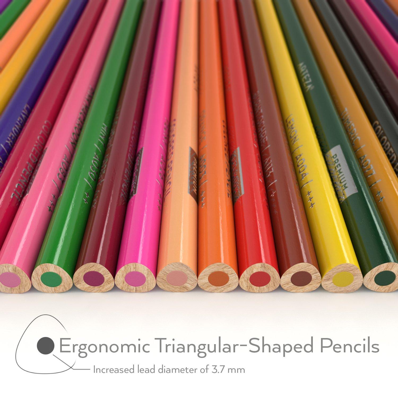 Arteza Colored Pencils, Soft Core, Triangular shaped, Pre ...
