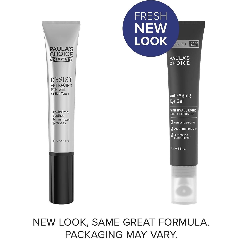 Amazon.com: Paula's Choice RESIST Anti-Aging Eye Gel | Hyaluronic Acid & Licorice | Anti-Aging & Wrinkles | 0.5 Ounce: Beauty