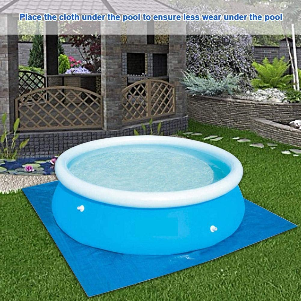 Manta plegable rectangular para piscina redonda y soporte de ...