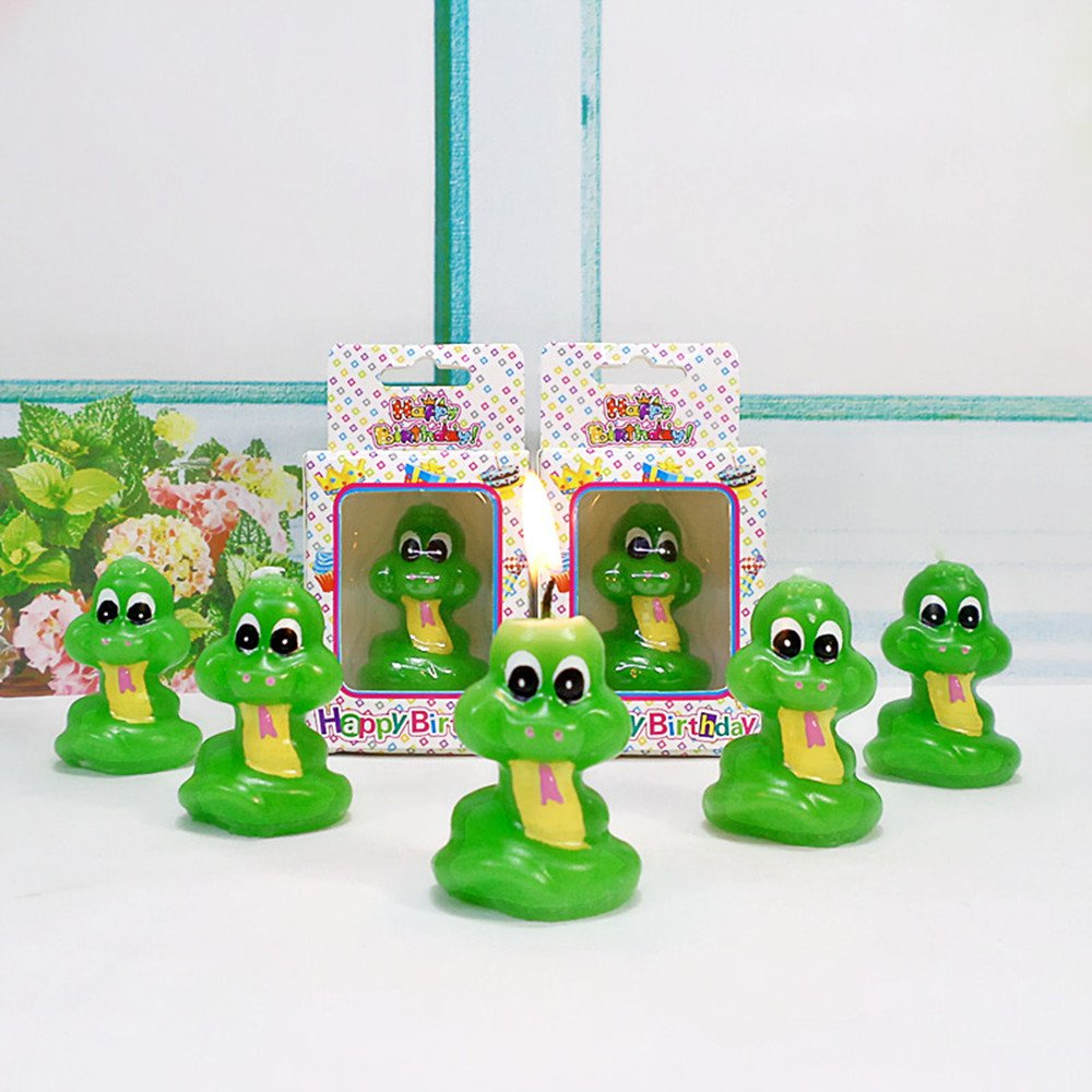 Birthday Gifts Cake Toppings Candles Cartoon Animal Party Decoration Candles for Kids' Birthday Parties (Little Snake) by none-branded (Image #7)