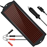 POWISER Solar Battery Charger 12V Solar Powered Battery maintainer & Charger,Suitable for Automotive, Motorcycle, Boat, Marin