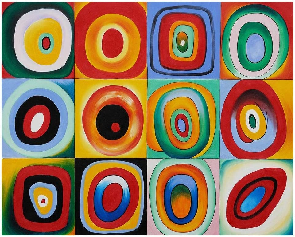 Legendarte Cuadro Lienzo, Impresión Digital - Prueba De Color Wassily Kandinsky, cm. 80x100 - Decoración Pared