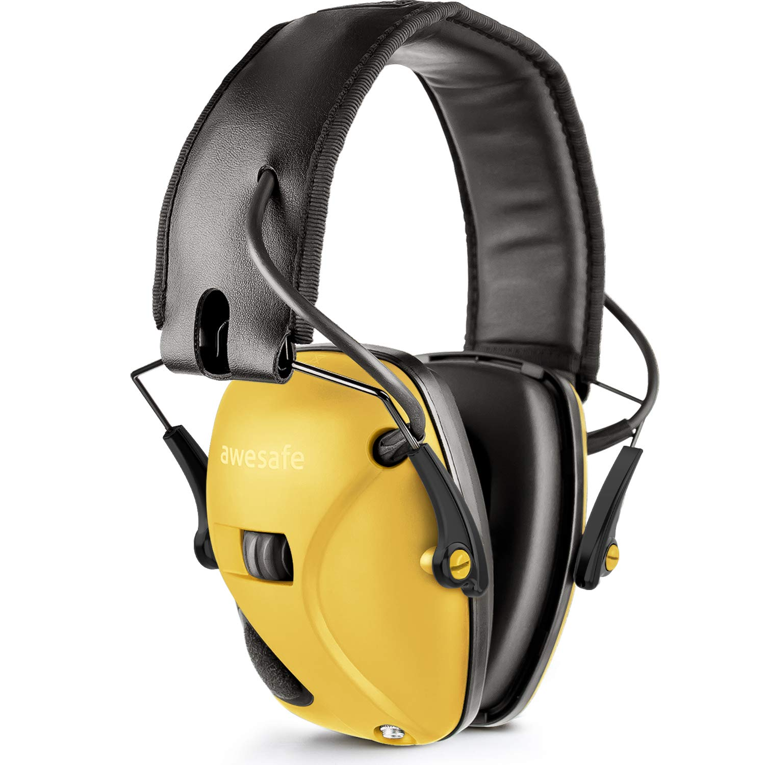 Awesafe Electronic Shooting Earmuff, GF01 Noise Reduction Sound Amplification Electronic Safety Ear Muffs, Ear Protection, NRR 22 dB, Ideal for Shooting and Hunting, Yellow … by awesafe   (Image #1)
