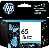 Original HP 65 Tri-color Ink Cartridge | Works with HP AMP 100 Series, HP DeskJet 2600, 3700 Series, HP ENVY 5000 Series | El