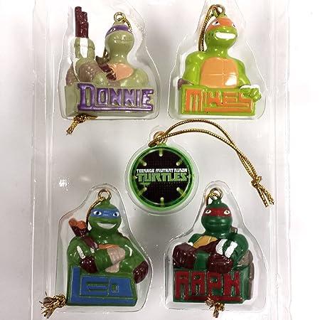 Ninja Turtle Christmas Tree.Teenage Mutant Ninja Turtles 5 Pack Christmas Tree Ornament