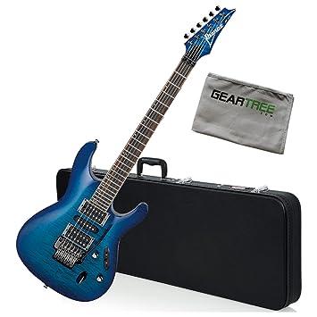 Ibanez s670qm S Series Guitarra eléctrica (azul zafiro) W ...