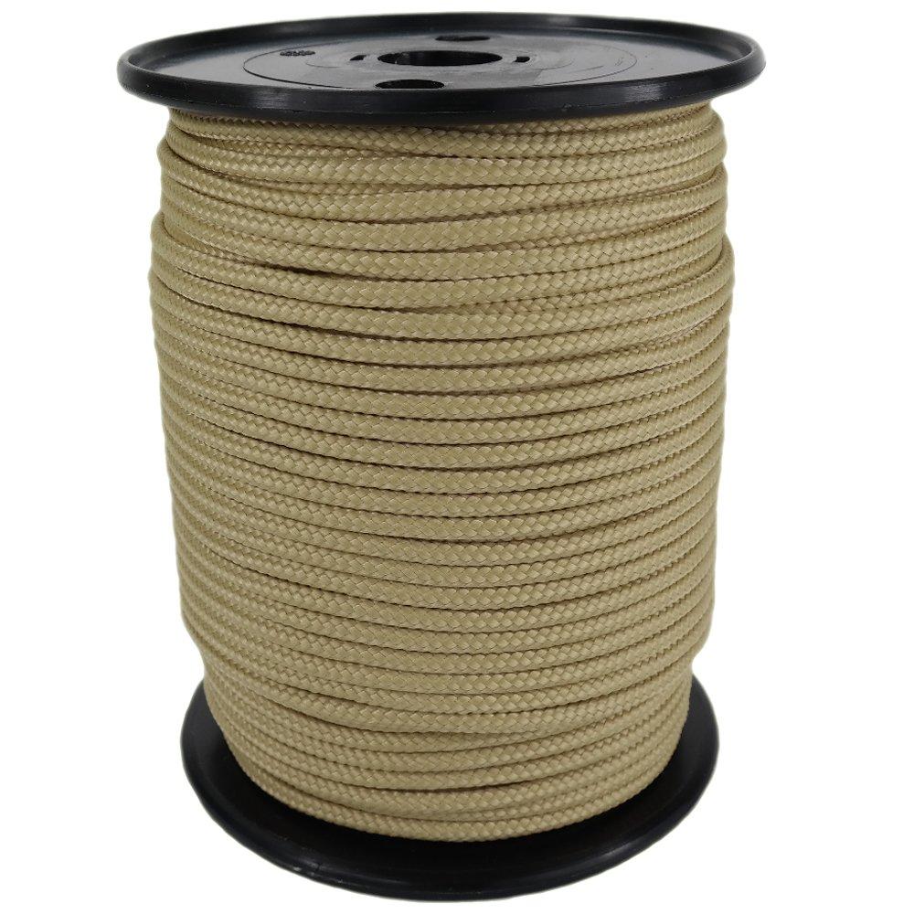 PP Seil Polypropylenseil SH 10mm 100m Farbe Hanffarbig (0144) Geflochten