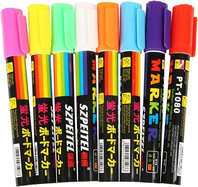 2x 12ml Leuchtstift Glow in The dark Phosphorisierender Stift leuchtet i Dunkeln