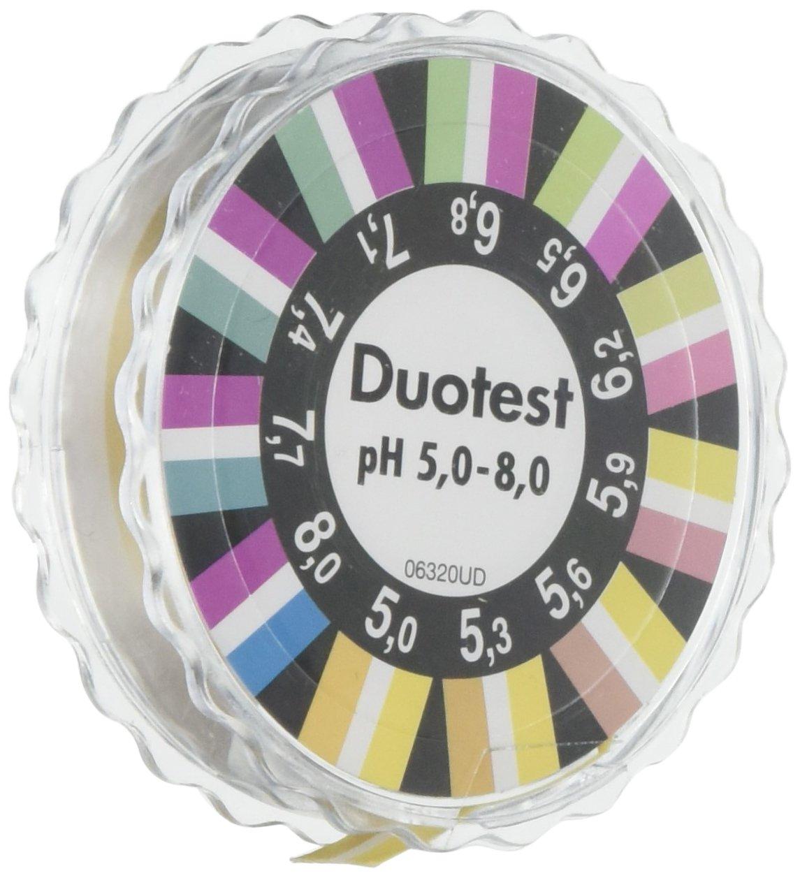 Camlab 1138826 Duotest PH 5.0– 8.0 Bande, bobine de 5 m X 10 mm bobine de 5m X 10mm