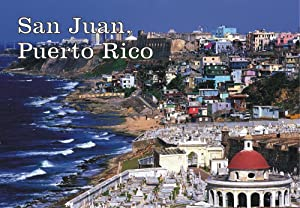 San Juan, Puerto Rico, Beach, Skyline, Souvenir Magnet 2 x 3 Photo Fridge Magnet