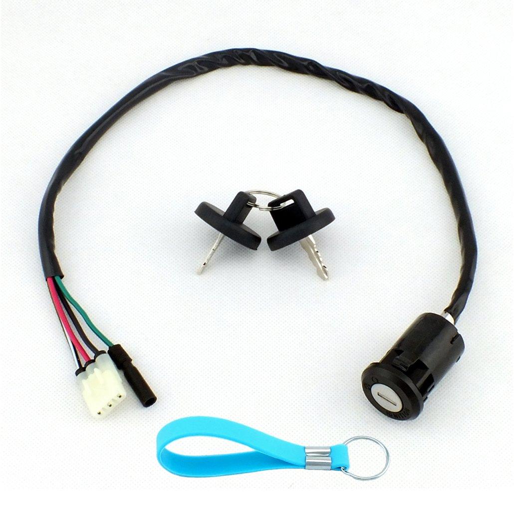 QAZAKY Ignition Key Switch for Honda ATV TRX200 TRX250 TRX200D TRX250EX TRX250TE TRX250TM TRX250X TRX400EX FOURTRAX TRX 200 250 400