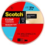 Scotch Clear Mounting Tape, 1-inch x 450-inches, Holds up to 10 pounds, 1-Roll (410-LONG)