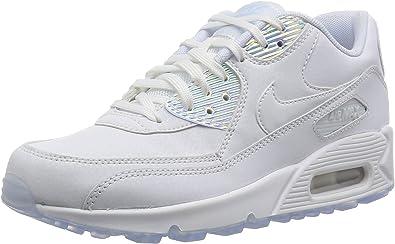 enlace folleto Chelín  Amazon.com: Nike Air Max 90 Premium de la mujer, Blanco, 9.5 B(M) US: NIKE:  Shoes