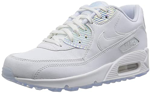 Nike Women's Air Max 90 PREM White 443817 104 (Size: 8.5