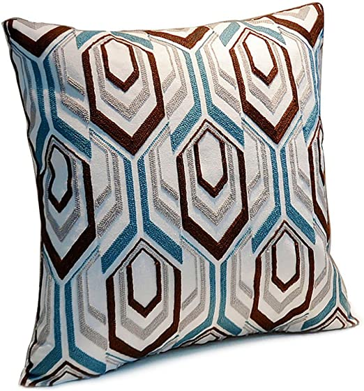 Blue And Brown Decorative Pillows  from images-na.ssl-images-amazon.com