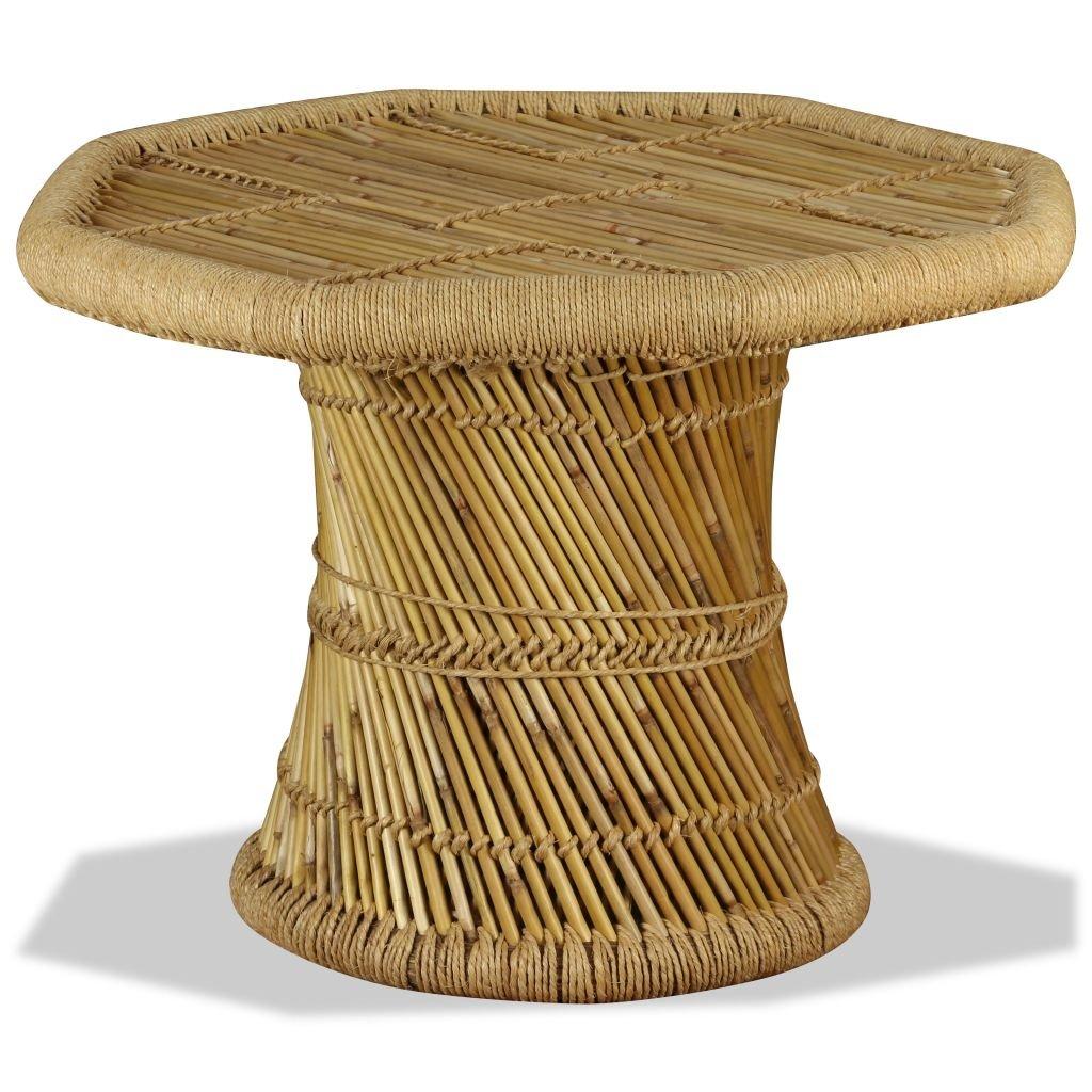 Festnight Tavolino Ottagonale da Caffe' in Bambu' 60x60x45 cm da Balcone/Giardino/Patio per esterno