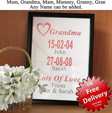 Personalizado regalo para día de la madre o abuelas para ...