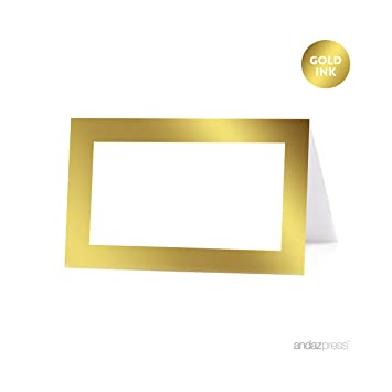 image about Printable Place Card Paper referred to as Andaz Thrust Desk Tent Printable Point Playing cards upon Perforated Paper, Steel Gold Ink, Blank Border, 20-Pack, Placecards Desk Options for employ the service of with