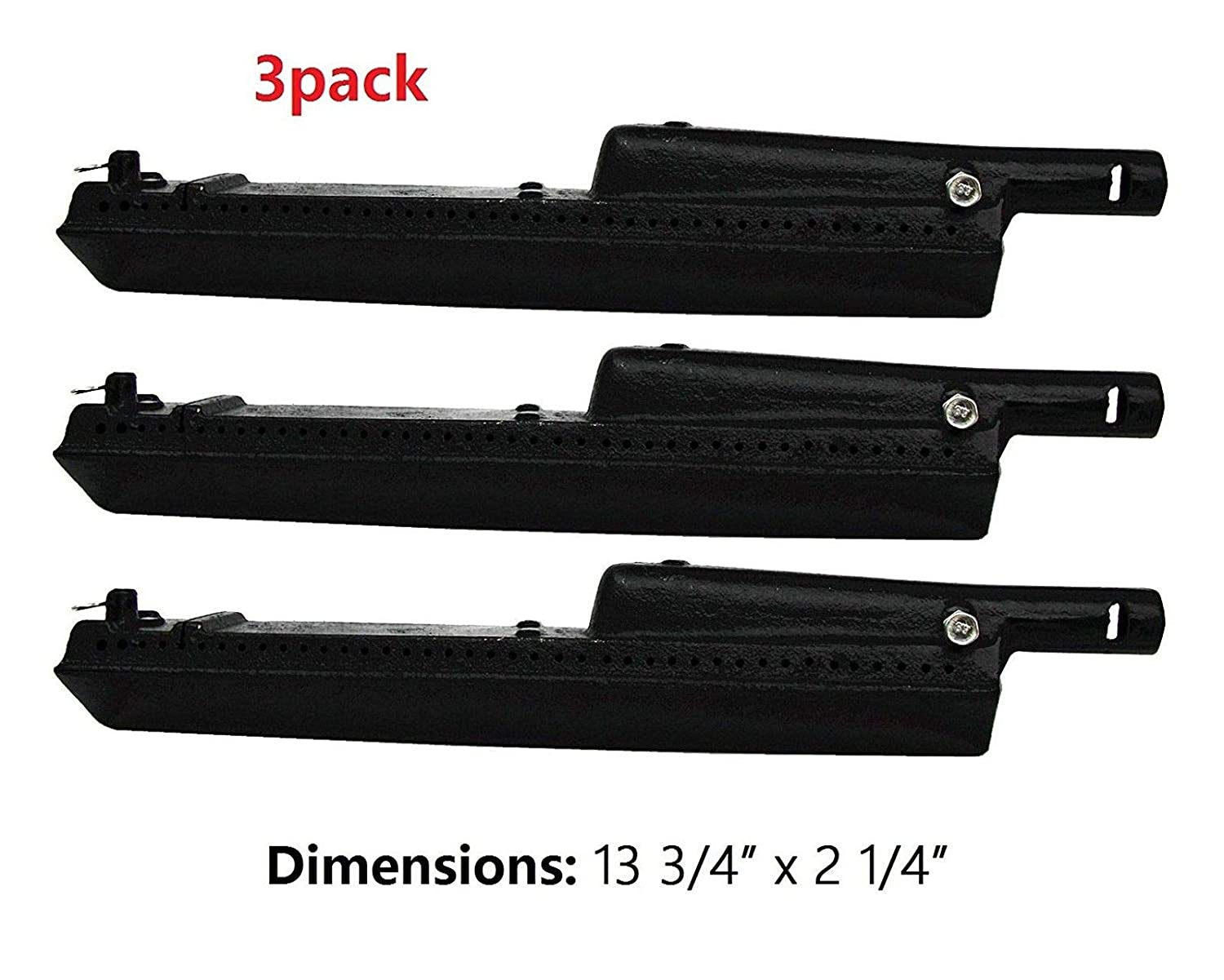 Thermos Gas Grill Replacement Cast Iron Burner 80010062 set of 3 Charbroil