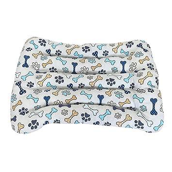 Cisne 2013, S.L. Precio REBAJADO! Cama para Perro y Gato Huesos Azules B 115 * 90cm: Amazon.es: Productos para mascotas