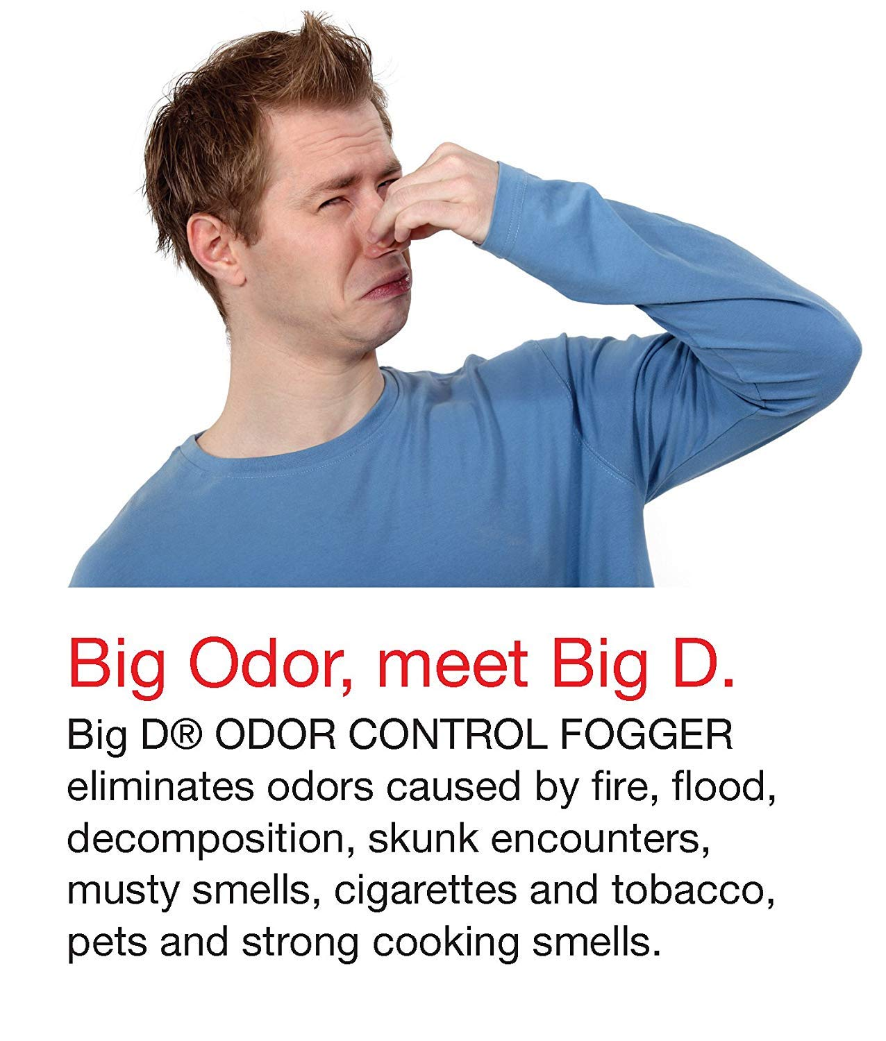 Big D 345 Odor Control Fogger, Sunburst Fragrance, 5 oz (Pack of 12) - Kills Odors from fire, Flood, Decomposition, Skunk, Cigarettes, Musty Smells (Вundlе оf Fоur)