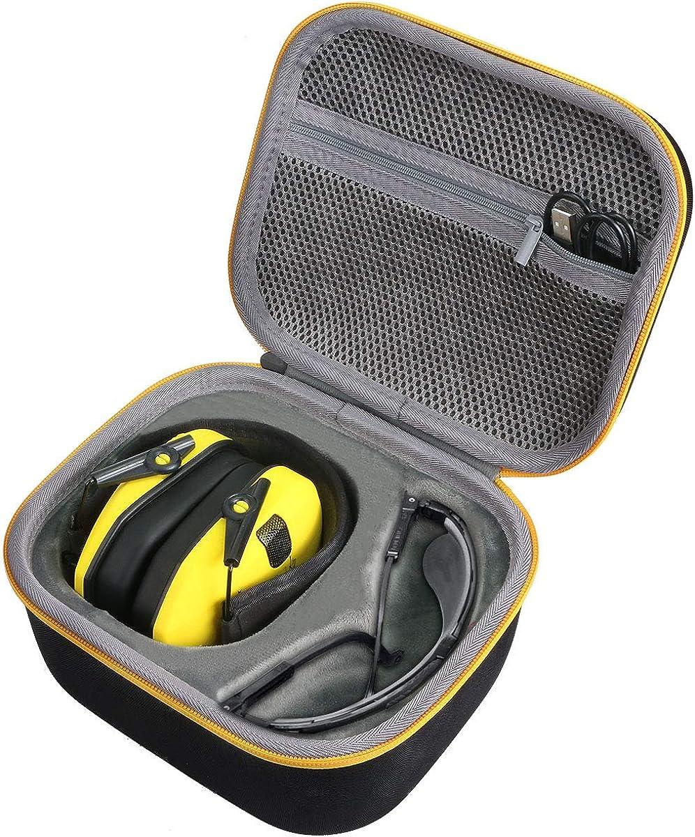 co2crea Hard Travel Case for Walker's Razor Slim Electronic Hearing Protection Muffs Passive Earmuffs Ultra Low Profile 27dB NRR