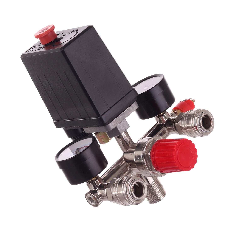 interruptor de compresor compresor Regulador de presi/ón interruptor con acoplamientos r/ápidos regulador de aire compresor de aire interruptor de presi/ón