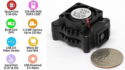 JeVois-A33 Quad-Core Smart Machine Vision Camera for PC, Mac, Linux,  Arduino, Raspberry Pi - Black - Beginner KIT