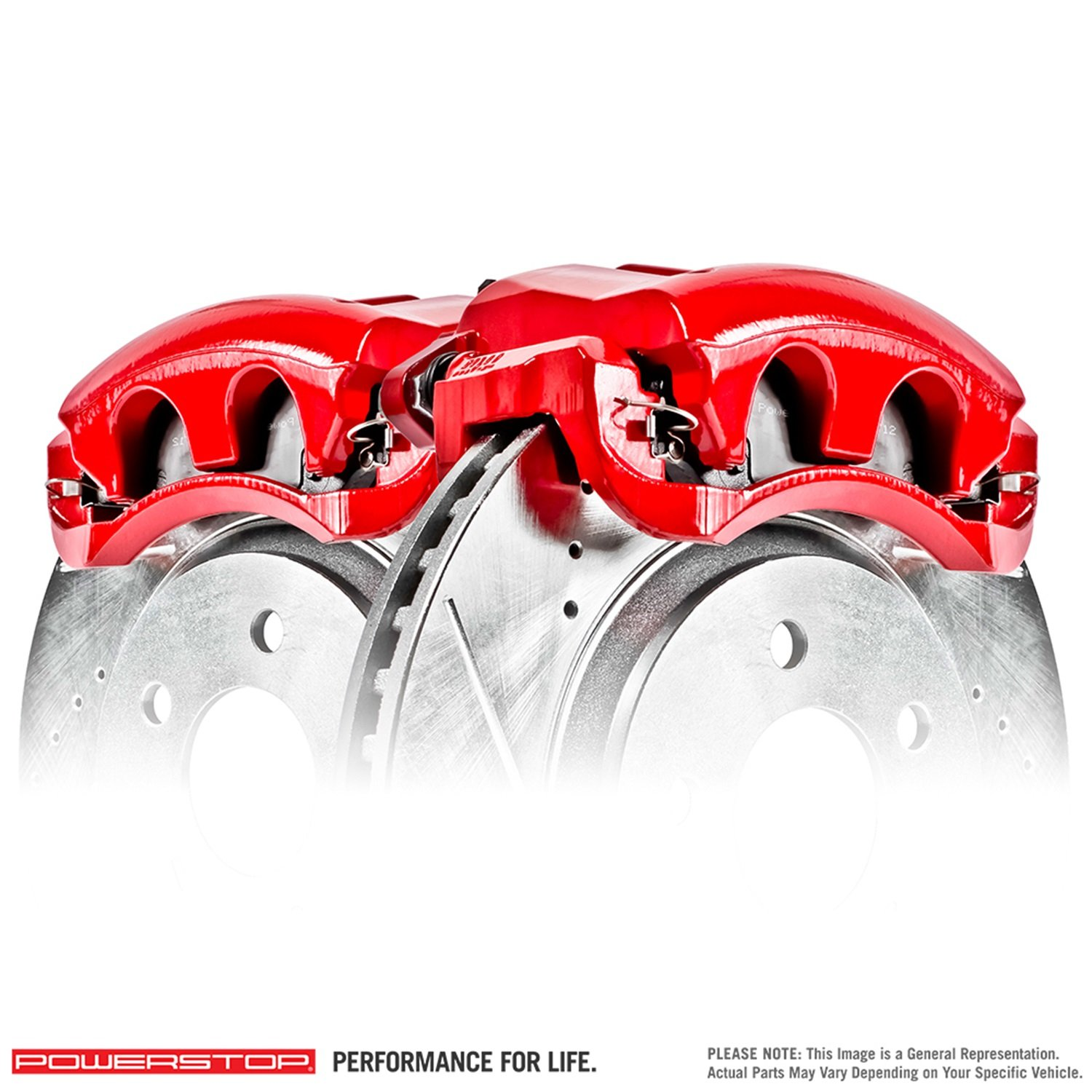 Power Stop S2998 Performance Brake Calipers w/Brackets Pair Performance Brake Calipers w/Brackets