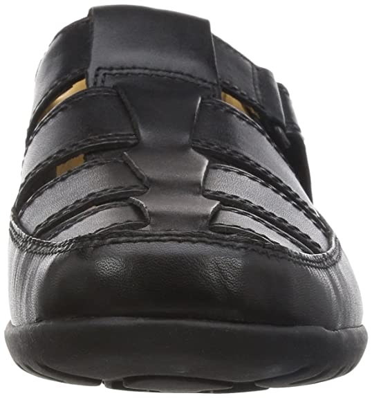 daf68474e Clarks Men?s Recline Open Low-top Sandals Black (Black Leather) 10 UK: Buy  Online at Low Prices in India - Amazon.in