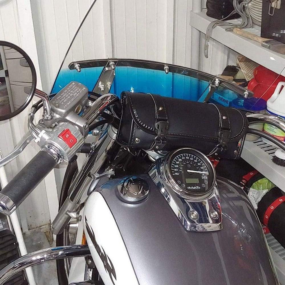 Womdee Motorrad Leder Werkzeugtasche Balck Lenkertasche und Handy Brieftasche Tasche Kofferraum Seitentasche f/ür Honda Suzuki Kawasaki Yamaha BMW KTM Ducati wasserdichte Motorrad Gabel Tasche