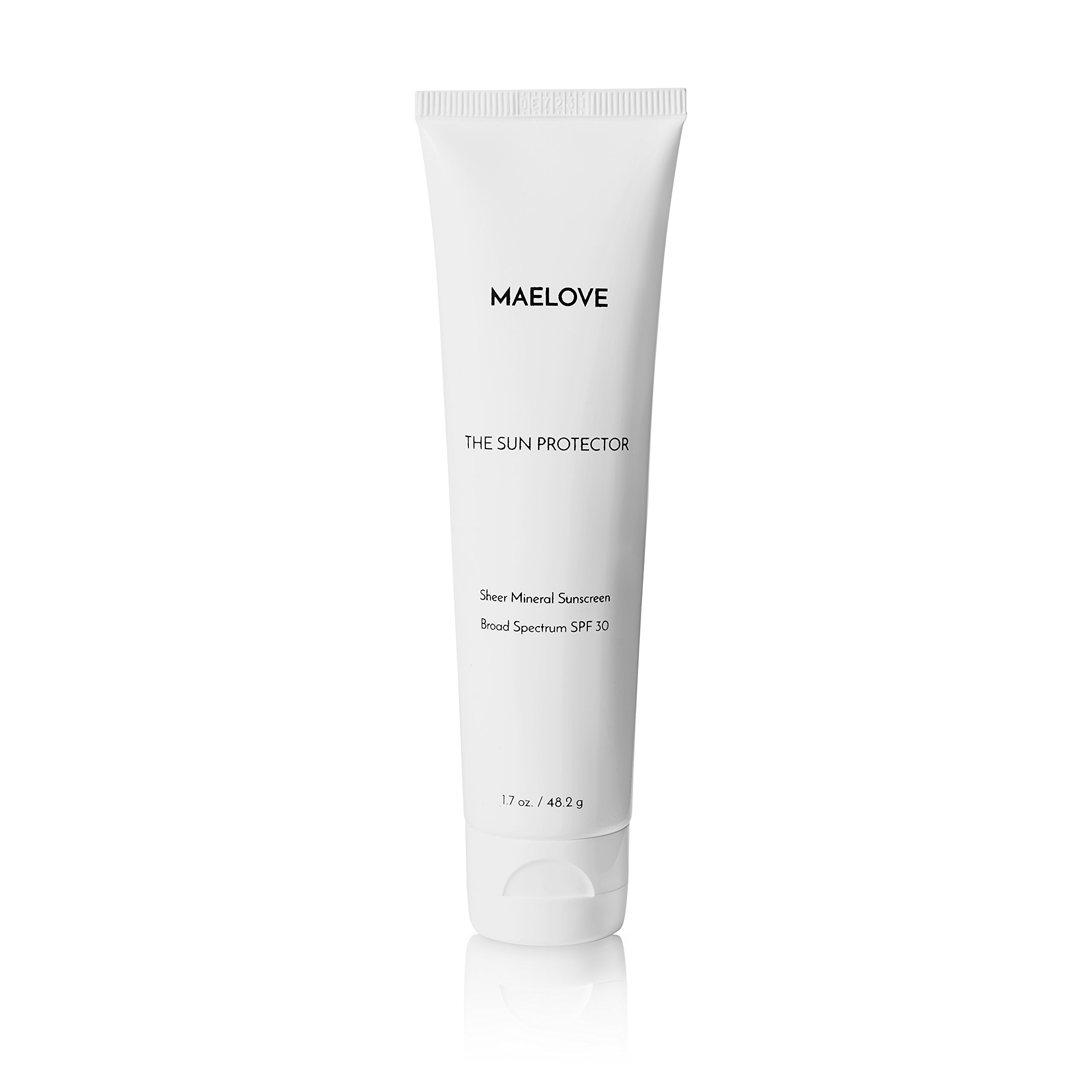 Sheer Mineral Zinc Broad Spectrum SPF 30 Sunscreen by Maelove. Vegan and Natural.