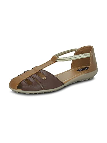 e99249258a8191 Kielz Beige Flat Slip on Women s Sandals  Buy Online at Low Prices in India  - Amazon.in