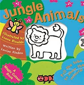 Libro de historia de colores mágicos de la selva con