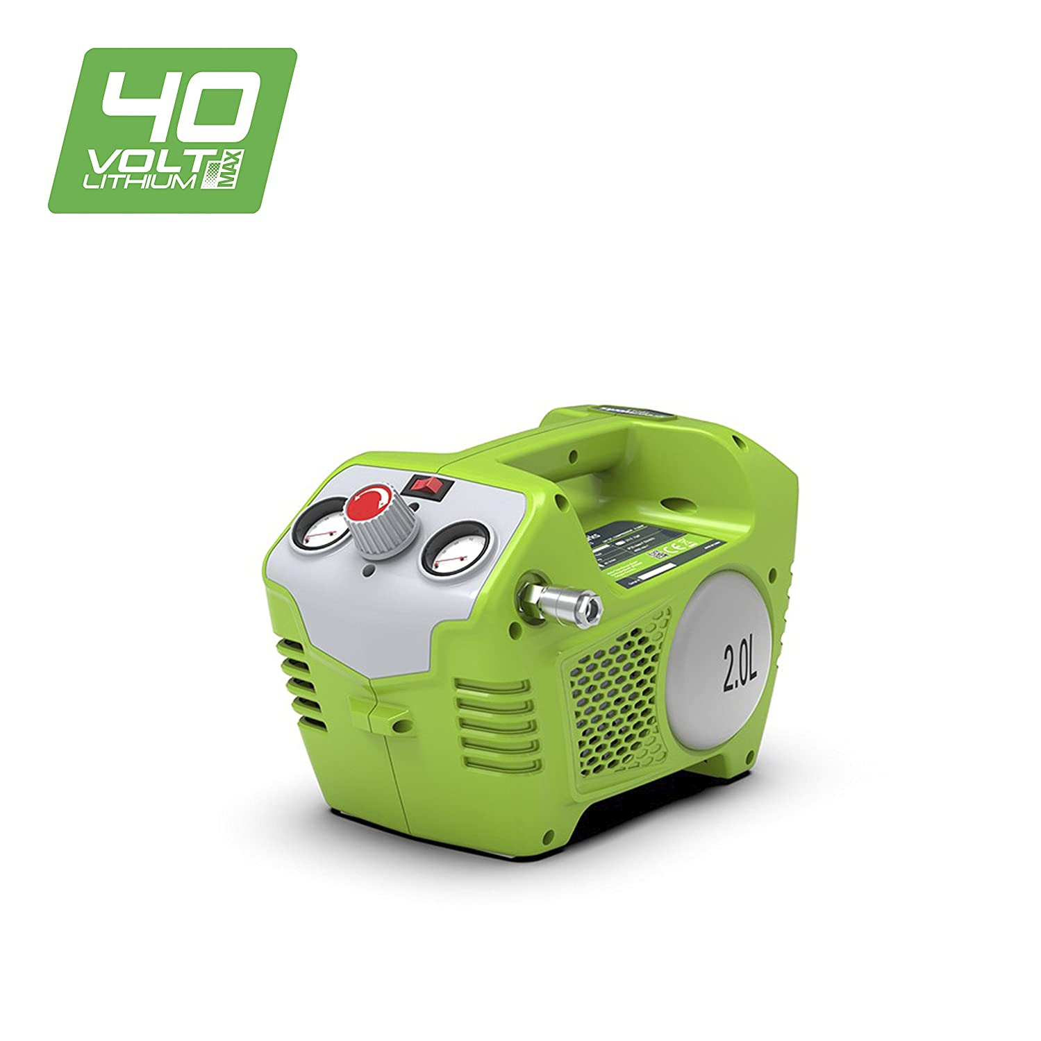 Greenworks Compresseur d'air de 2L sans fil sur batterie 40V Lithium-ion (sans batterie ni chargeur) - 4100802 Greenworks Tools G40AC (Art/No: 4100802)