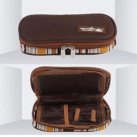 Nueva refrigeración bolsa diabético insulina medicina portátil de viaje con bolsa de refrigerador paquete de refrigerador marrón marrón: Amazon.es: Hogar