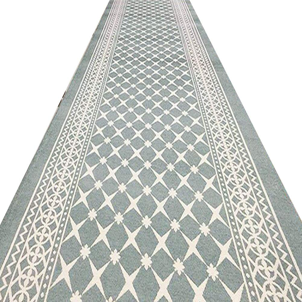 YANZHEN ランナー カーペッコリドーカーペット滑り止め 耐汚染性 ジャカードクラフト 幾何学模様 エクストラロング 厚さ8mm、 2色 (Color : Gray, Size : 1.2 x 5m) B07SDD87CL Gray 1.2 x 5m