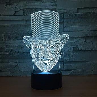 Lampe 3D Lampe pour dormir bébé, Clown, Lampe de table à